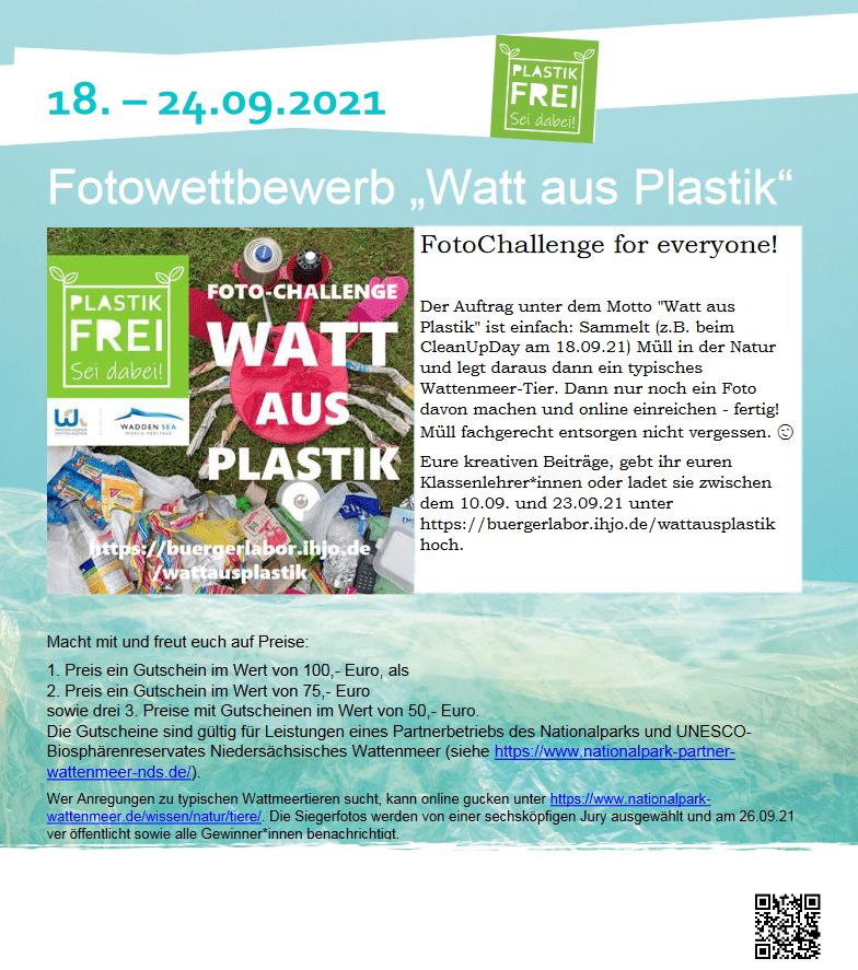 """Fotowettbewerb """"Watt aus Plastik"""""""