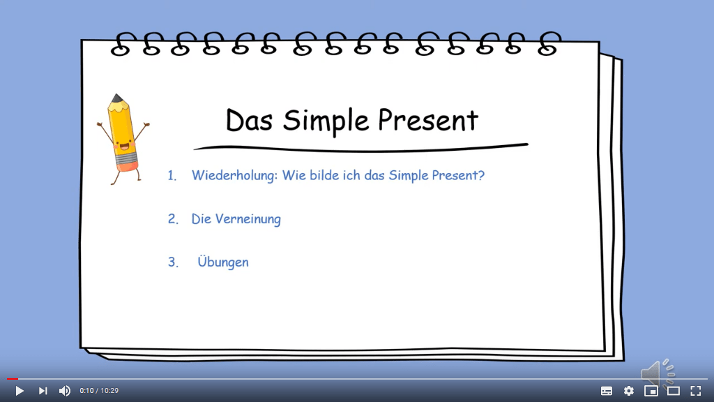 Lernvideo über Simple Present