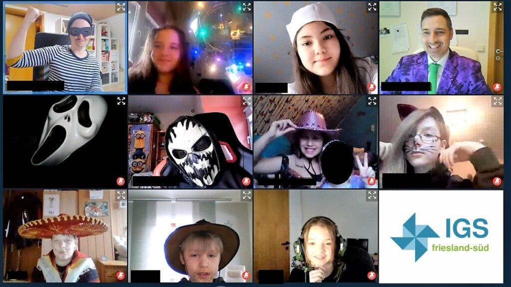 videokonferenz igs zetel mit Spass und Kreativitaet